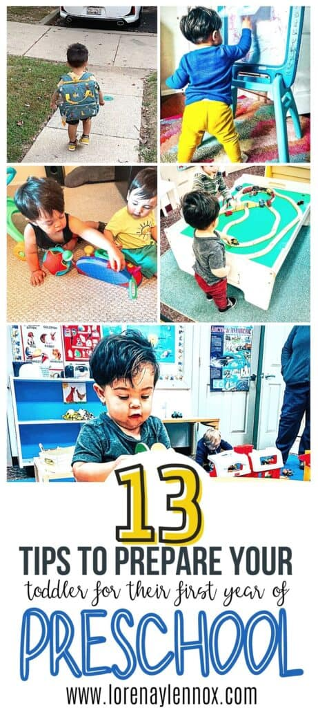 In this post you can find 13 ideas to prepare your toddler for preschool