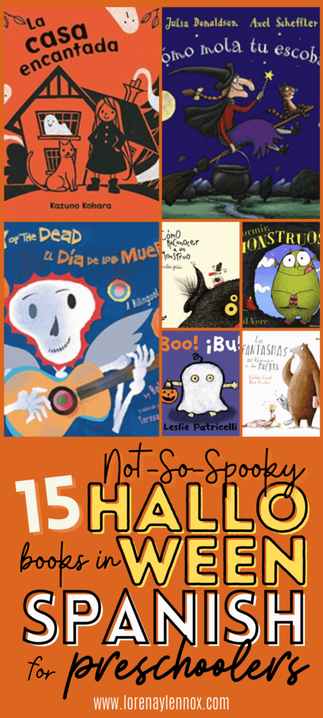 15 Read aloud Halloween Picture Books in Spanish for toddlers, preschoolers, kindergarteners and beginner Spanish learners of all ages.