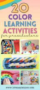 20 Color Learning Activities for Preschoolers