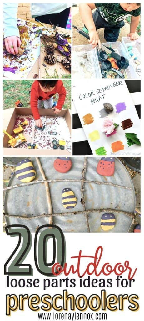 20 Loose Parts Outdoor Activities for Toddlers #Loosepartsplay #outdooractivitiesfortoddlers #springactivitiesfortoddlers #outdooractivitiesforpreschoolers #toddleractivitiesathome #summertoddleractivities #funtoddleractivities #educationaltoddleractivities