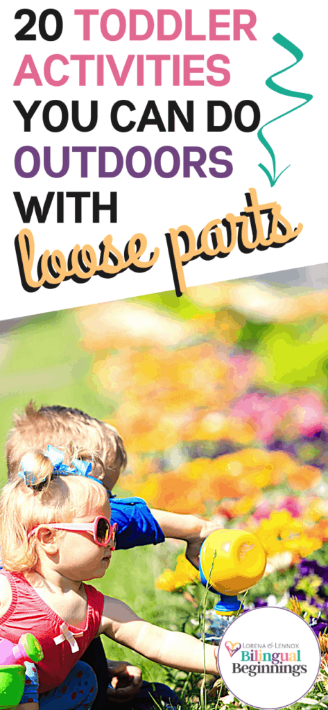 20 Outdoor Loose Parts Activities for Toddlers