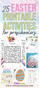 Easter Printables for Preschoolers