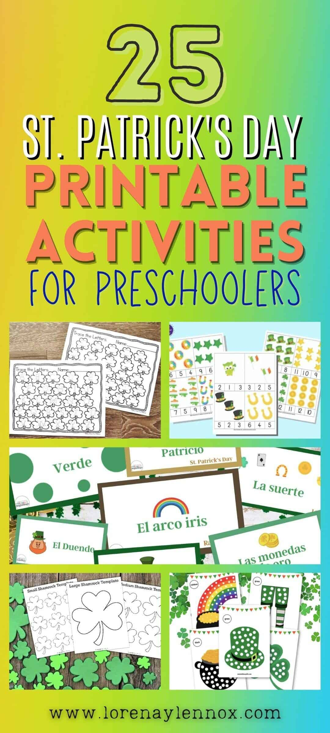 25 St. Patrick's Day Printables for Preschoolers