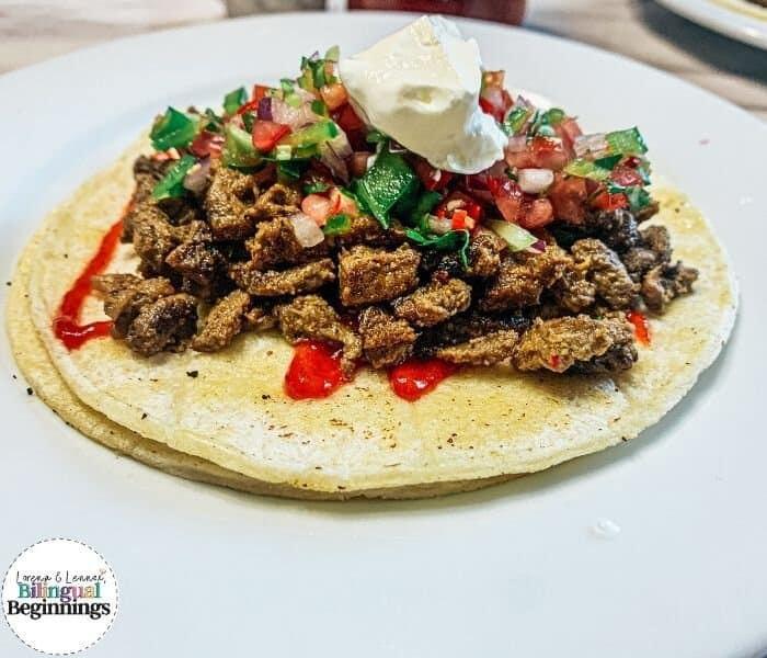 Salvadoran Carne Asada Tacos
