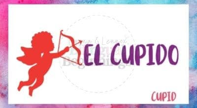 Valentine's Day Printables in Spanish- el cúpido flashcard
