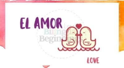 Valentine's Day Printables in Spanish- el amor flashcard
