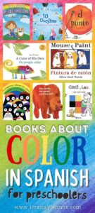 21 picture books in Spanish about colors for toddlers and preschoolers