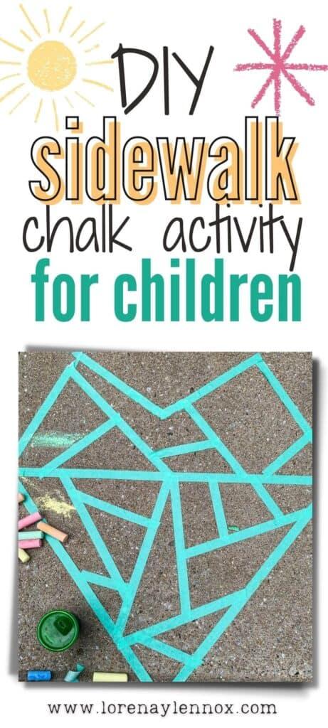 A Sidewalk Mosaic Chalk Heart Activity for Kids