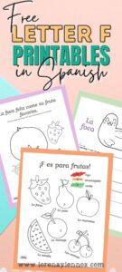 Letter F Printables in Spanish