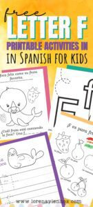 Free Letter F Printables in Spanish for Preschoolers