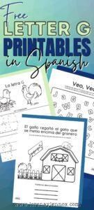 Letter G Printables in Spanish-Free