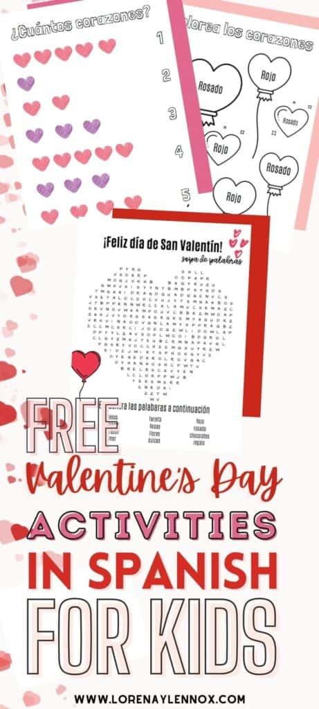 Valentine's Day Printables in Spanish