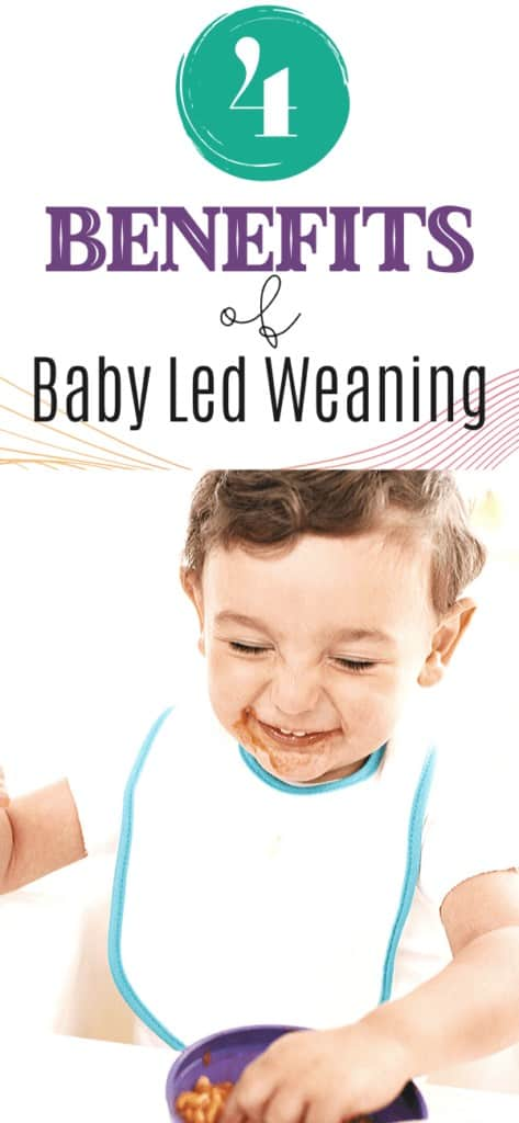 This post will go into four benefits of baby led weaning  when introducing solids to your baby for the first time.