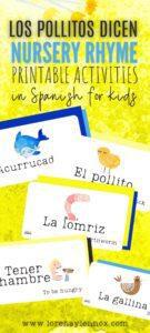 Los Pollitos Dicen Nursery Rhyme Printable PDF Activities