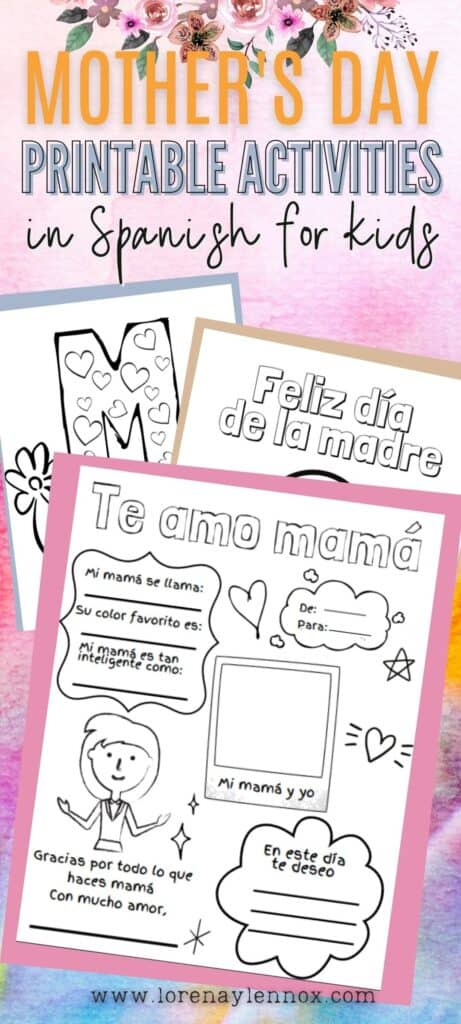 Free Mother's Day Activities in Spanish