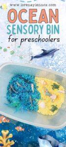 Ocean Sensory Bin for Toddlers