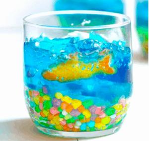 Mini Jello Fish Bowls - By Mighty Mrs.