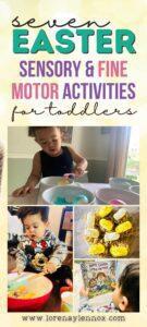 Easter Sensory Activities for Preschoolers