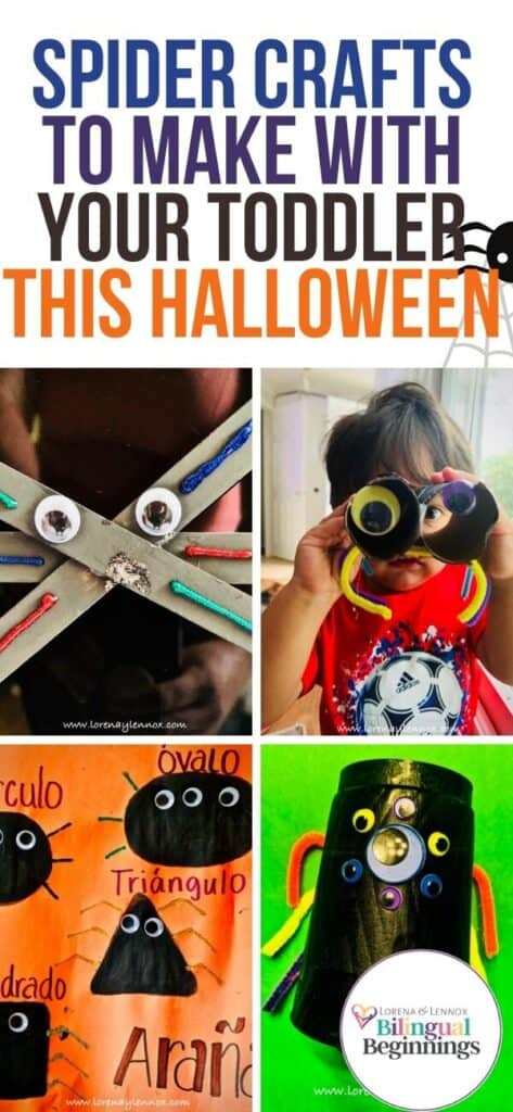 Five simple spider Halloween crafts make from household items to do with your toddlers and preschoolers this Halloween.