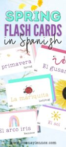 Spring Flashcards in Spanish