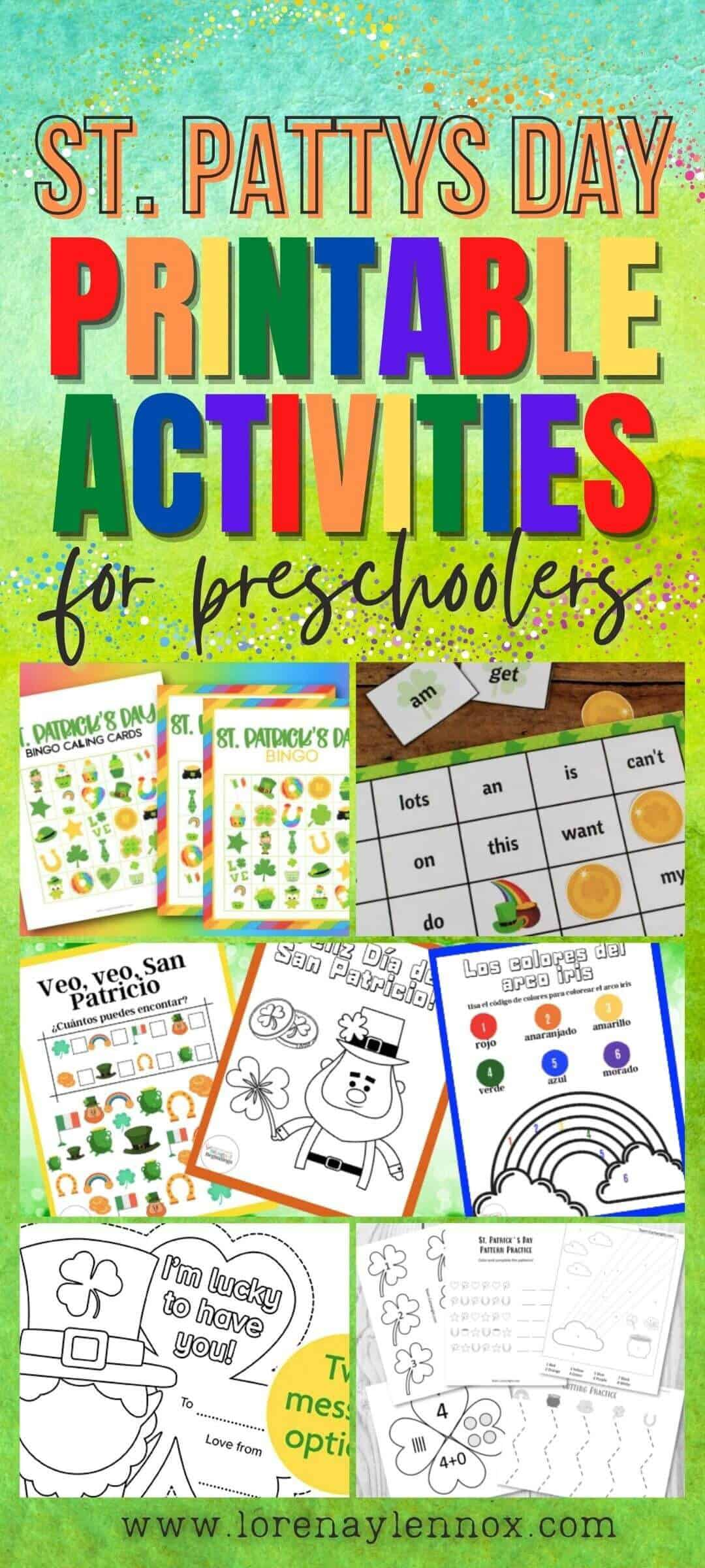 Inside: 25 St. Patrick's Day printable activity worksheets for toddlers and preschoolers ages 2 through 5. These printable activities perfect for the classroom or the homeschooling parent.