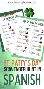 St. Patrick's Day Scavenger Hunt in Spanish