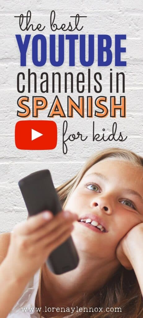 A list of 20 popular YouTube channels in Spanish with which you can SUPPLEMENT your child's Spanish.