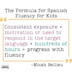 The Formula for Spanish Fluency for Kids
