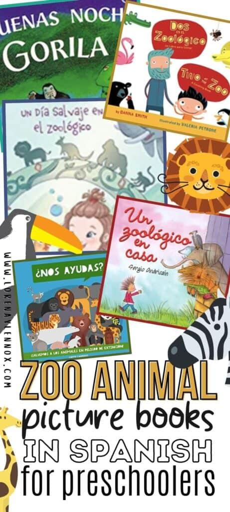 Zoo Animal Books in Spanish