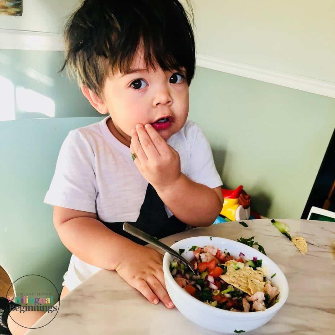 Typical Salvadoran Shrimp Ceviche #Shrimpceviche #healthyappetizer #traditionalrecipes #easyrecipes #latinamericanfood #salvadoranfood #traditionalfood