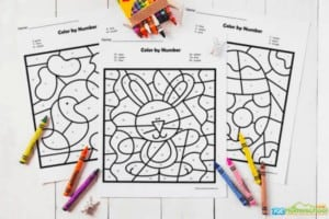 """2. Easter Color by Number Worksheets - With 123 Homeschool 4 Me""""These super cute easter color by number are a fun Easter activity to help children practice identifying numbers."""""""
