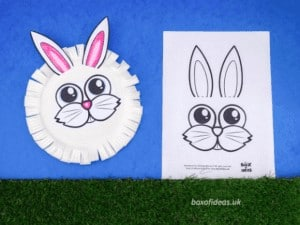 """7. Easy Bunny and Chick Printable Crafts - with Box of Ideas""""These are easy to customise and so much fun for kids to colour and give to their friends."""""""