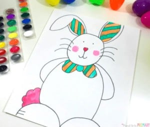 """10. How to Draw an Easter Bunny - with Proud to be Primary""""This Easter Bunny directed drawing is adorably cute and perfect for your Easter lessons and celebration."""""""