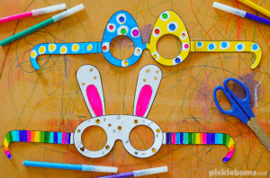 13. Crazy Fun Free Printable Easter Glasses - with PicklebumsKids will have fun coloring, cutting and wearing these adorable Easter glasses!