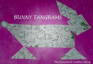 """18. Tangram Bunny Crafts - with The Preschool Toolbox""""Introducing tangrams in preschool and kindergarten can help young kids develop spatial, geometric, and problem solving skills. The 7 pieces, when fit together, can make a square (as pictured above), but they can also form many other shapes and designs."""""""