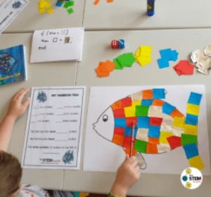 """13. Roll-a-Color Rainbow Fish - By: The STEM Mum""""This is such an easy, no set-up activity that will stimulate, educate, and provide some fun gross and fine motor activity for your child. Give it a try on a nice day!"""""""
