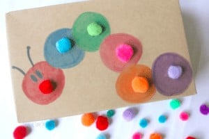 """20.Color Sorting Pom Pom Push - """"Playful, hands-on color learning activity for toddlers inspired by a much loved children"""