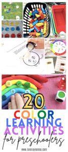 Color Learning activities for preschoolers