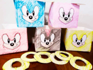 Sonic the Hedgehog DIY Ring Toss Craft/Game - By Pretty in Baby Food