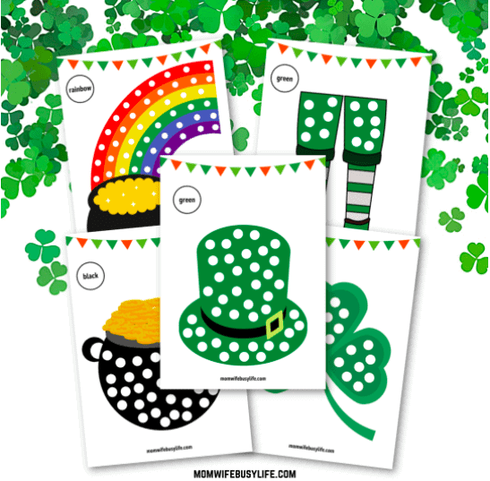 """14. Printable St. Patrick's Day Q-Tip Painting Activity - with Mom Wife Busy Life""""You'll love this FREE 6-page Printable St. Patrick's Day Q-Tip Painting Activity for kids to work on during the month of March this year!"""""""