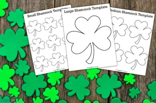"""16. Free Printable Shamrock Templates for Crafts and Activities - with Mombrite""""These shamrock templates are perfect for crafts, cutouts, coloring, and even fun activities with your kids! They come in large, medium, and small sizes."""""""