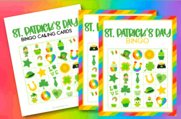 """20. St. Patrick's Day Bingo - with Made With Happy""""Feeling Lucky? Grab these FREE St Patrick's Day Bingo Printables including 10 Bingo Cards and Calling Cards."""""""