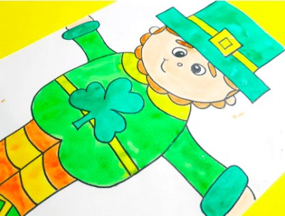 """25. How to Draw a Leprechaun - with: Proud to Be Primary""""Here is a directed drawing for St. Patrick's Day that will teach your students how to draw a leprechaun. It is sure to excite and entertain kids during your March festivities."""""""