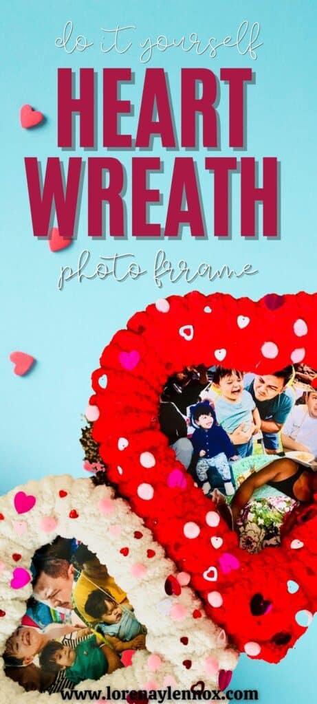 Valentine's Day Heart Wreath Photo Frame
