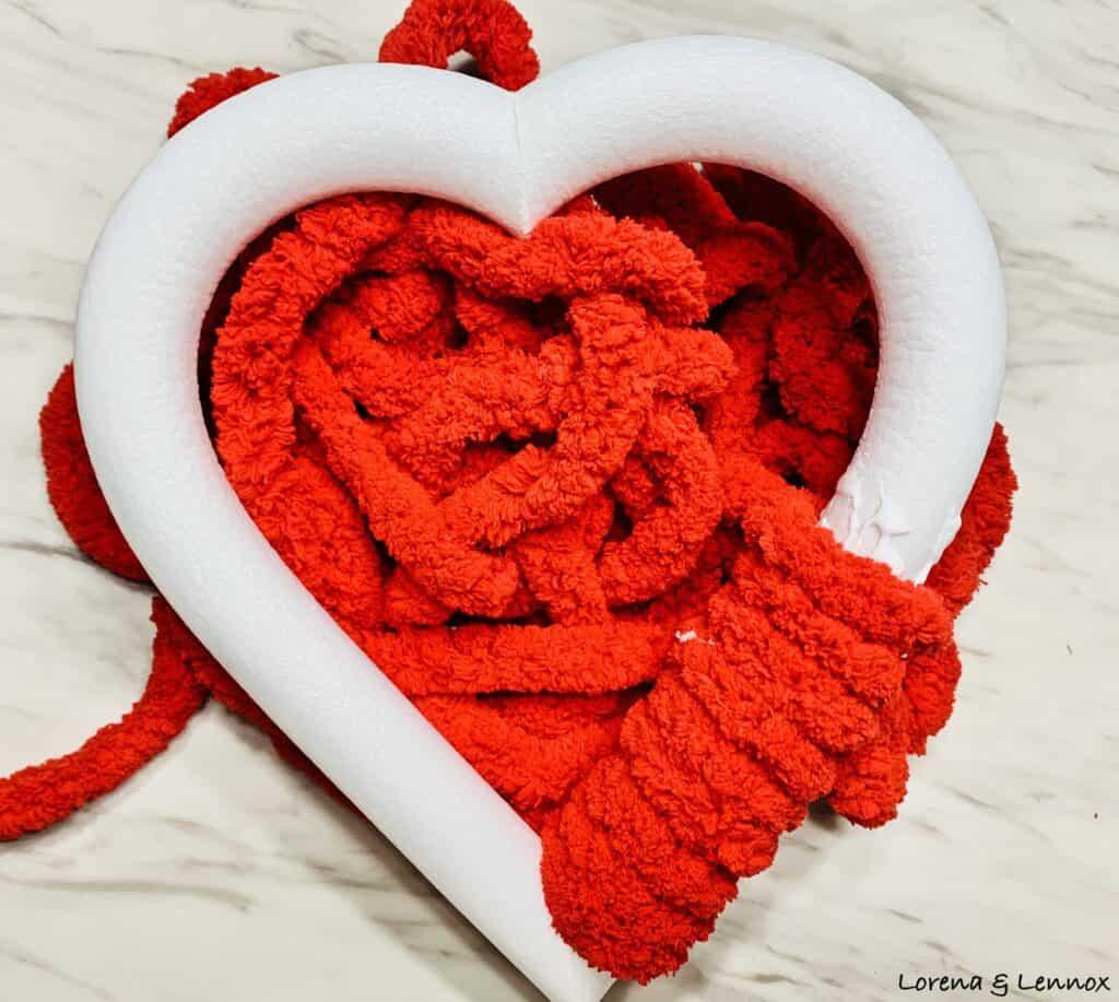 Heart Wreath Photo Frame