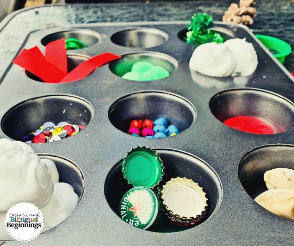 Sensory Christmas activities for toddlers