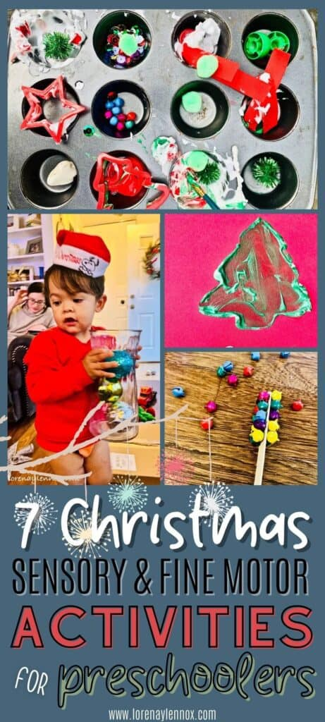 In this post, you can find sevensensory Christmas activities for toddlersand preschoolers ages 2-5.