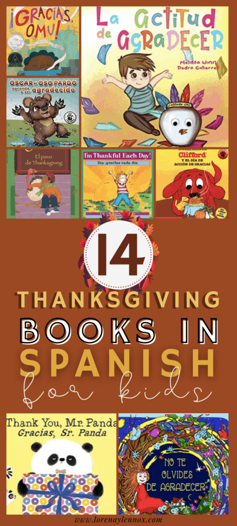 14 Thanksgiving books in Spanish for toddlers, preschoolers, kindergarteners and beginner Spanish learners of all ages.