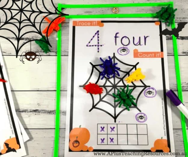 """10.Spooktacular Halloween Printable Number Games - with A Plus Teaching Resources""""Our Halloween themed number recognition activity pack will give your students visual and tactile experiences with numbers. This will help them become proficient at recognizing and identifying numbers 0-20."""""""