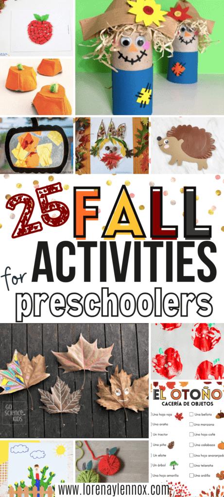 Fall Activities for Prechoolers